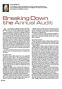 Breaking Down the Annual Audit, By Anne Sheehan, CPA