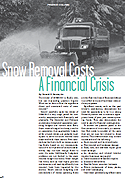 Snow Removal Costs: a Financial Crisis, By Donald E. Harris, CPA