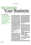 Your Community. Your Business., By Howard Goldklang, CPA, MBA